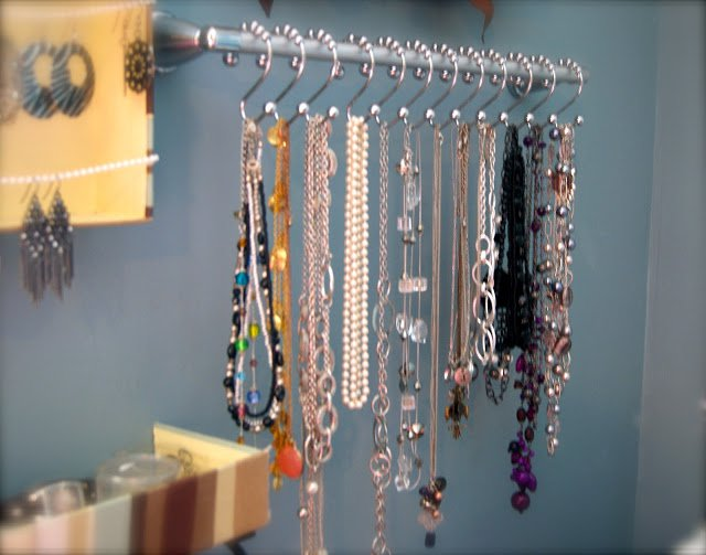 Costume jewelry storage ideas