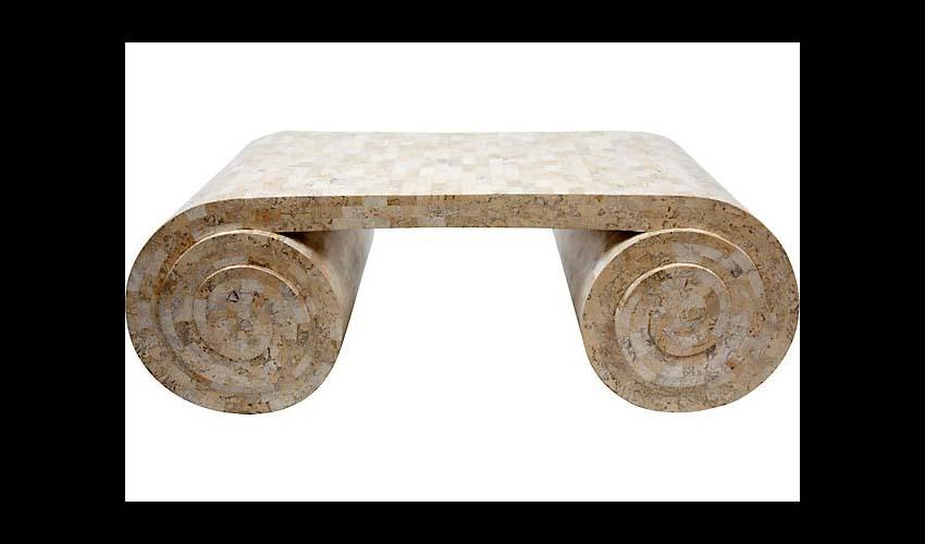 Faux granite coffee table