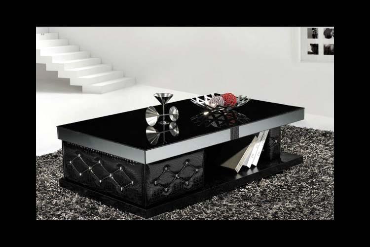 Glass coffee table black