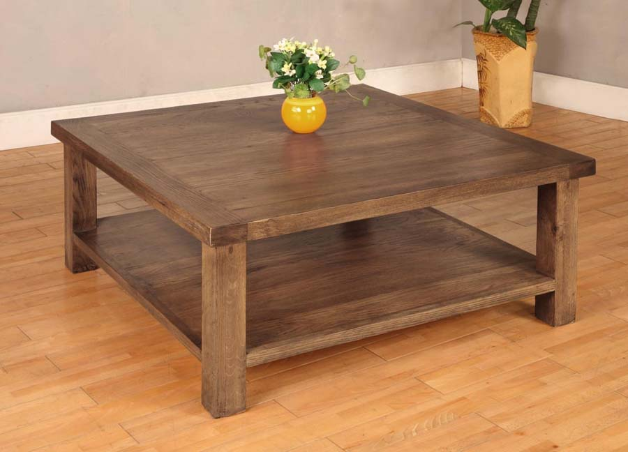 Large square coffee tables wood