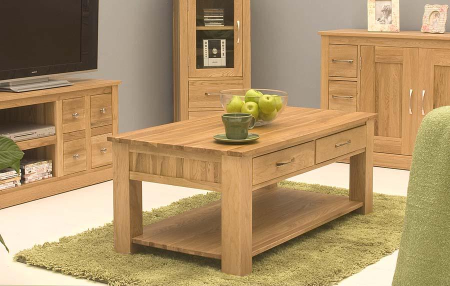 Light oak coffee tables