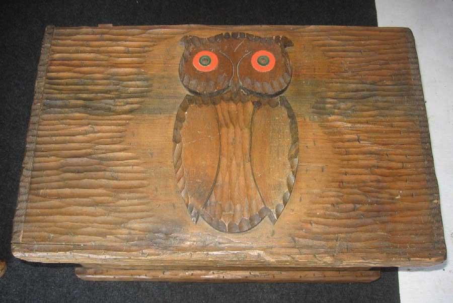 Owl jewelry box vintage