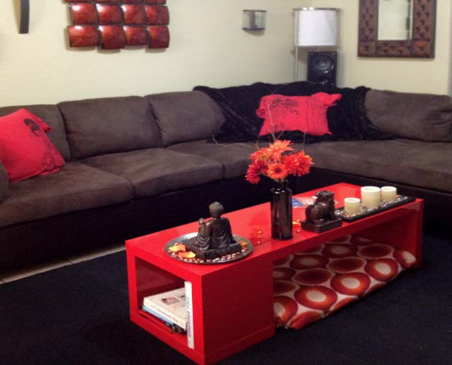 Red coffee table ikea