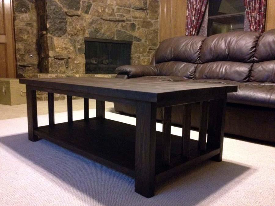 Rustic black coffee table