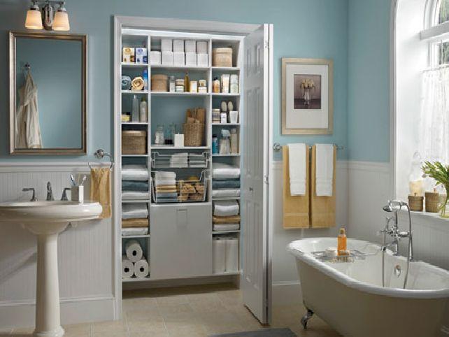 bathroom closet organizers ideas