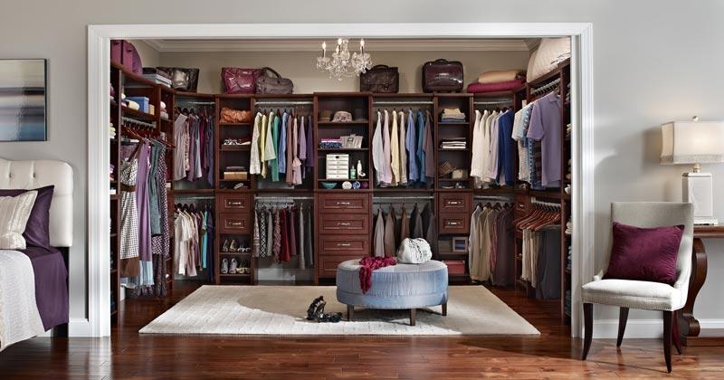 bedroom closet shelving system