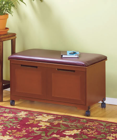 bench and file cabinet