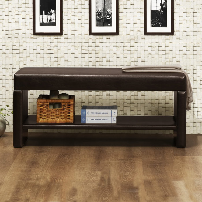 bench seat with shelves