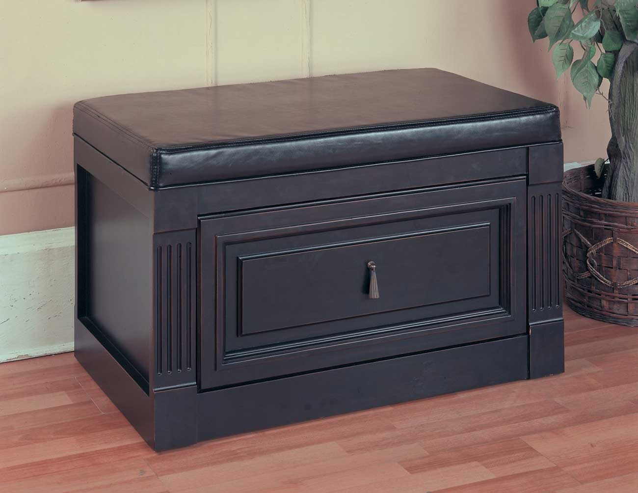 bench with file cabinet