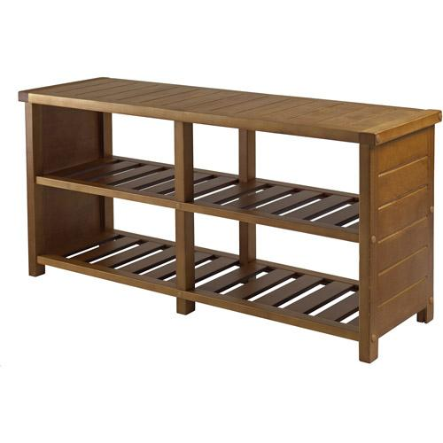 bench with shoe rack plans