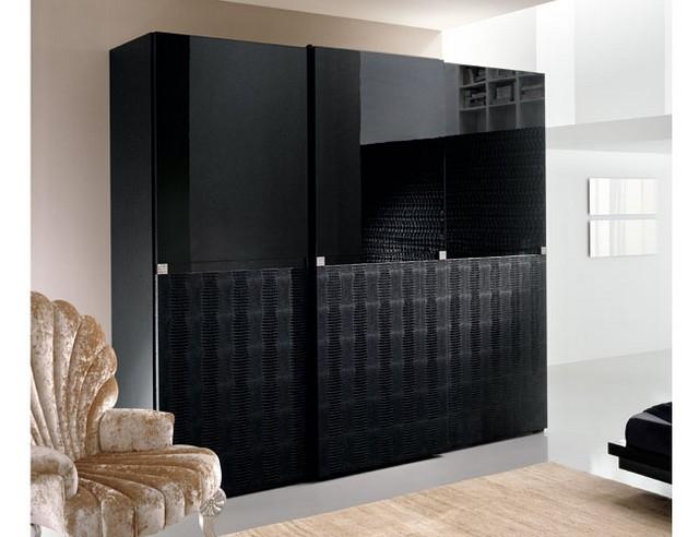 black bedroom wardrobe closet