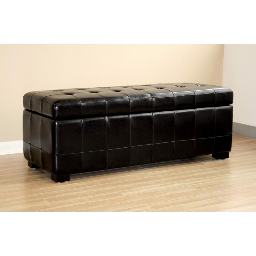 black bench storage ottoman