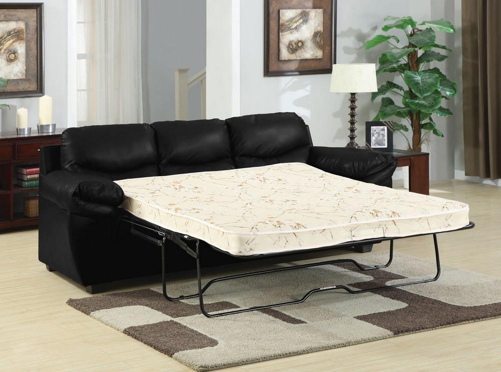 black leather sleeper sofa queen