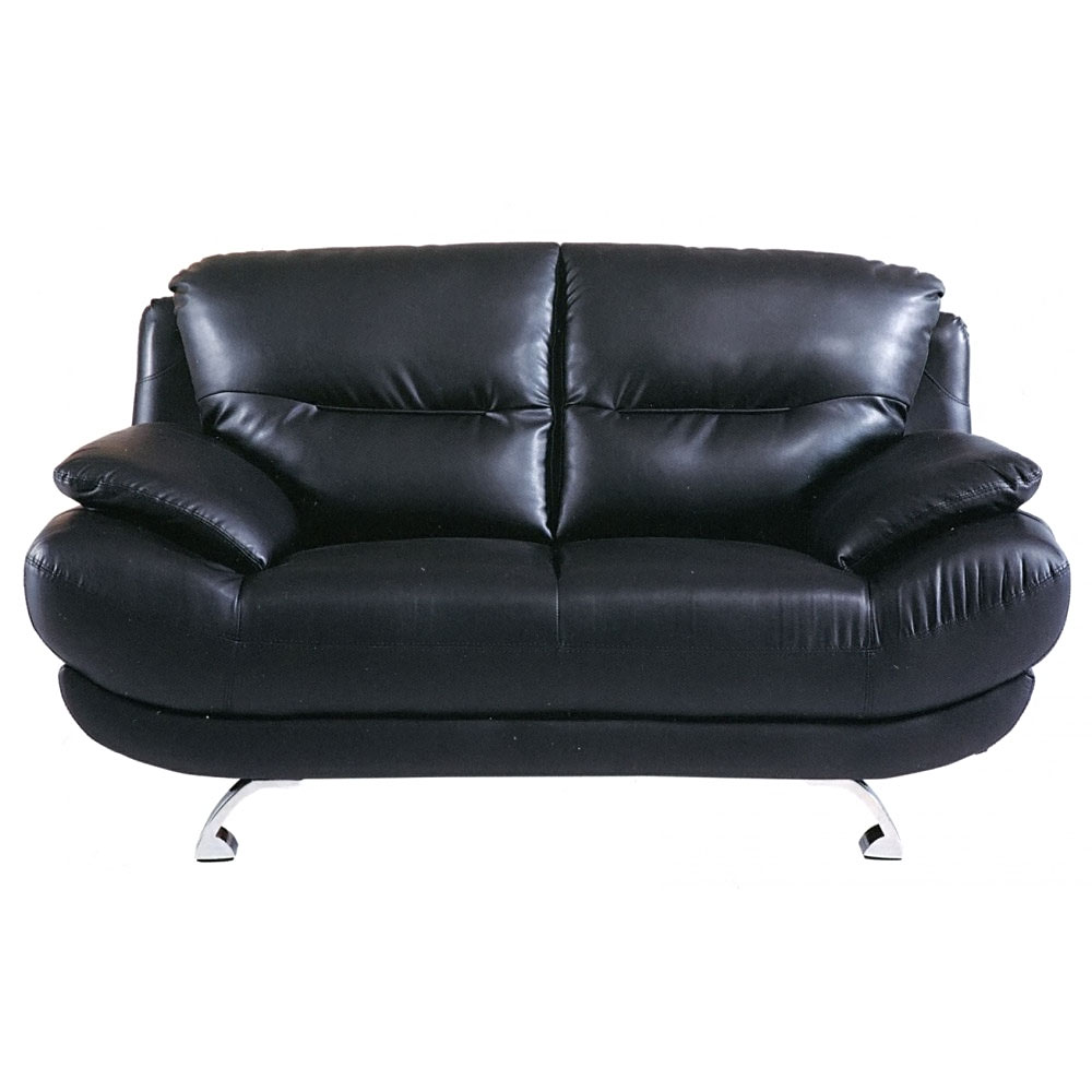 black leather sofa loveseat and recliner