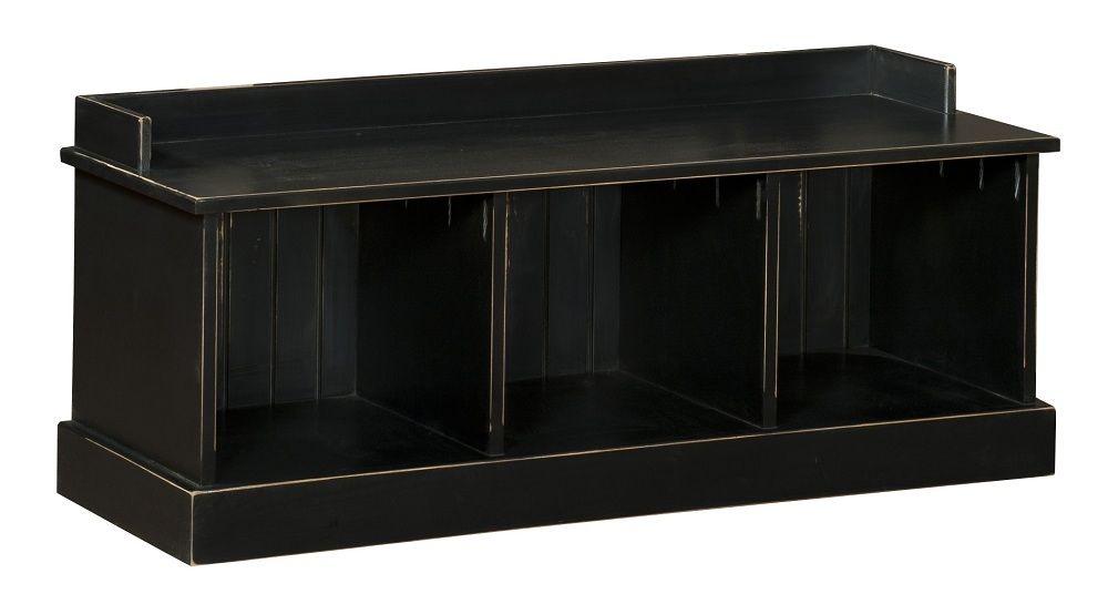 black wood entry bench