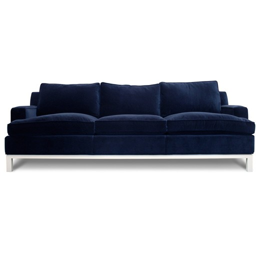 blue couch for sale text