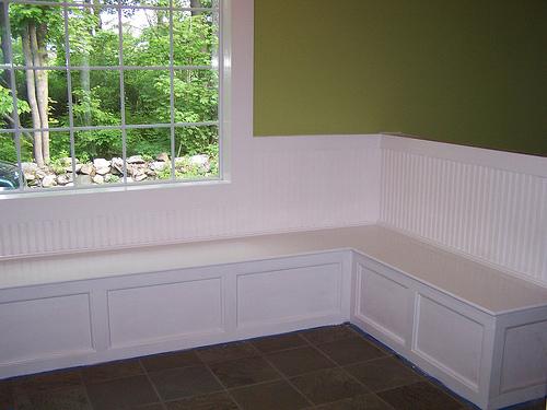 build under window storage bench