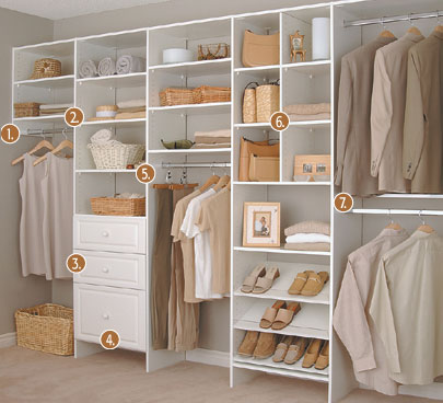 closet and shelving systems