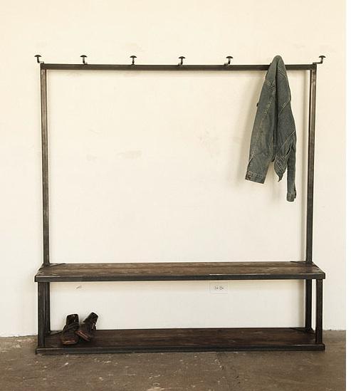 coat rack bench diy