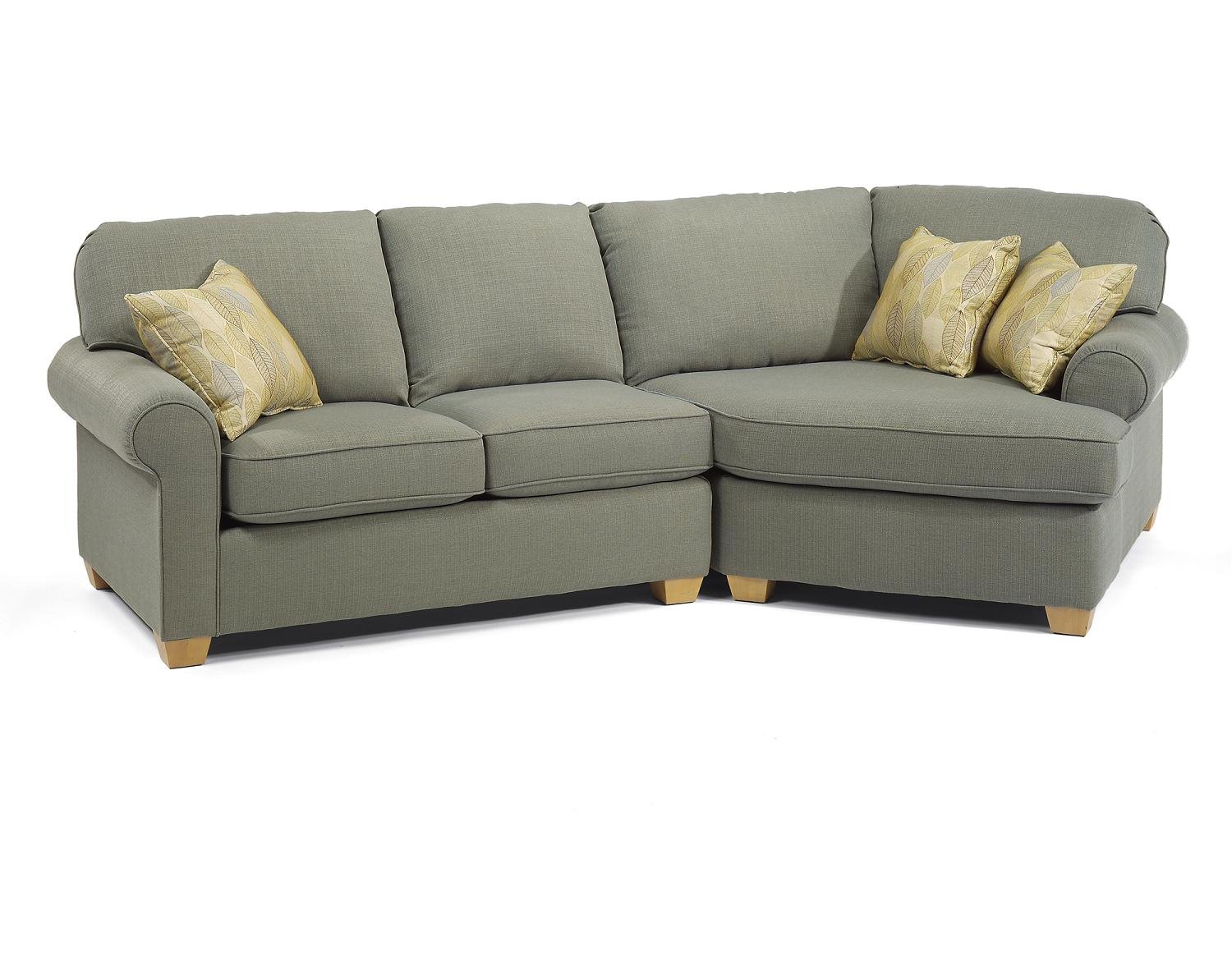 couch with wide chaise