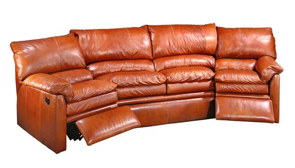 curved couch recliner
