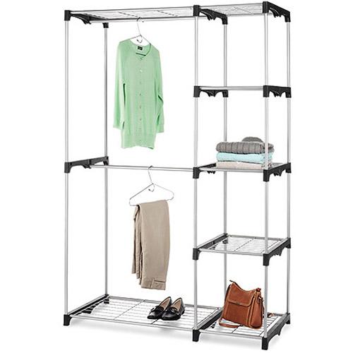 double rack portable closet