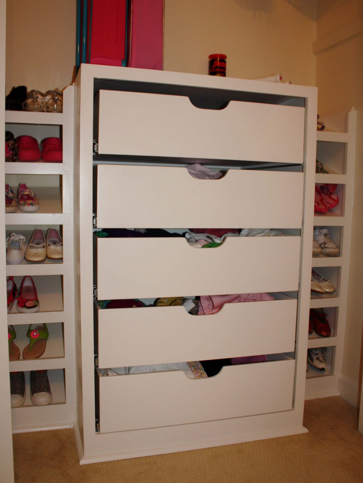 drawers for bottom of closet