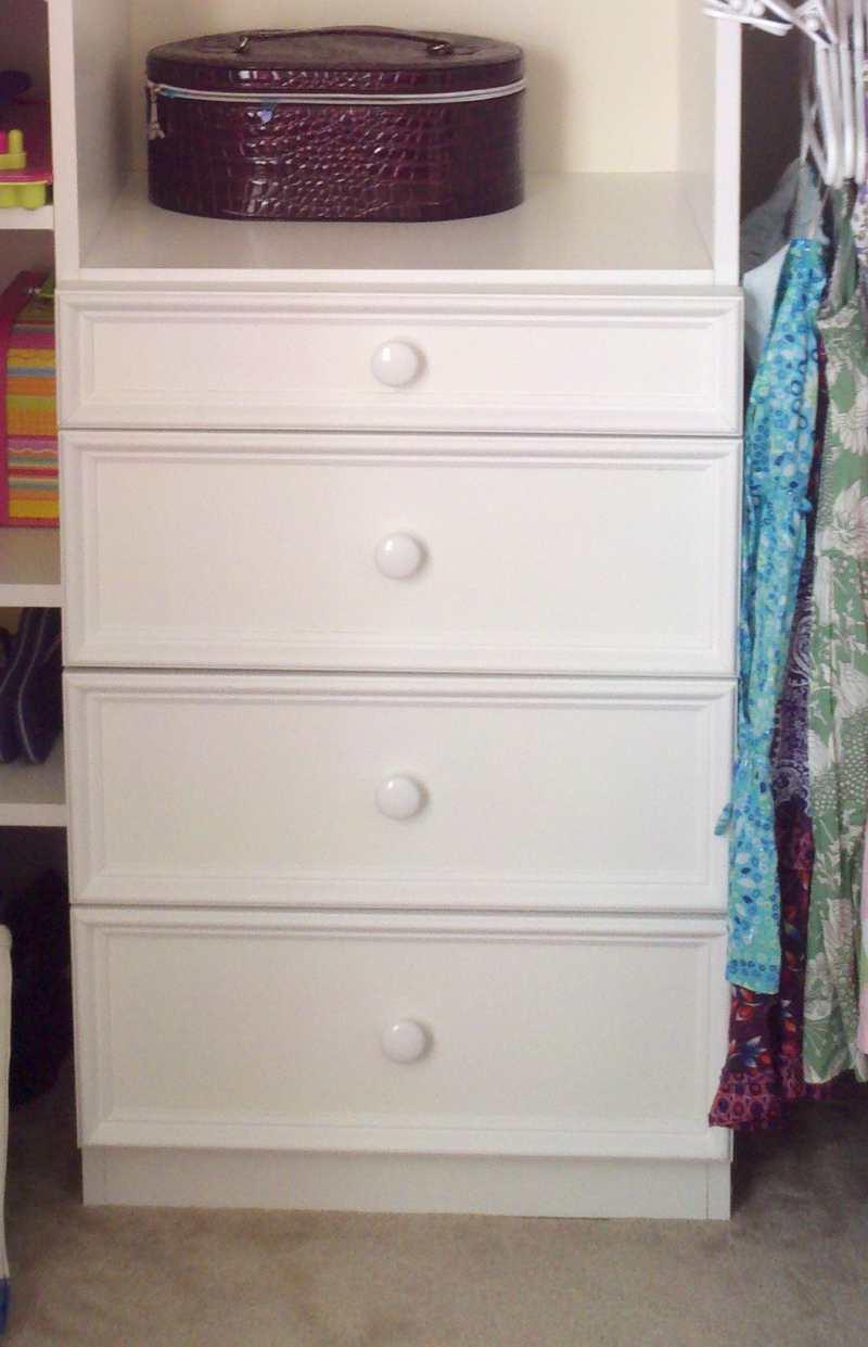 drawers for closet shelves