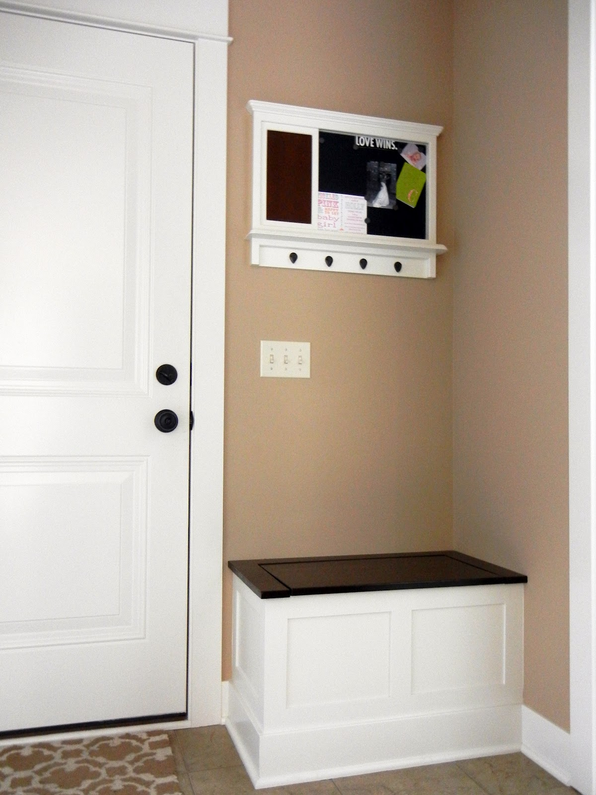 entrance bench with storage plans