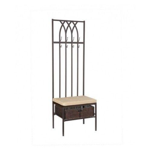 entryway bench storage rack