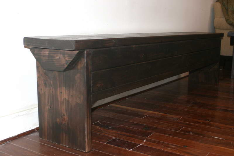 extra long entryway storage bench