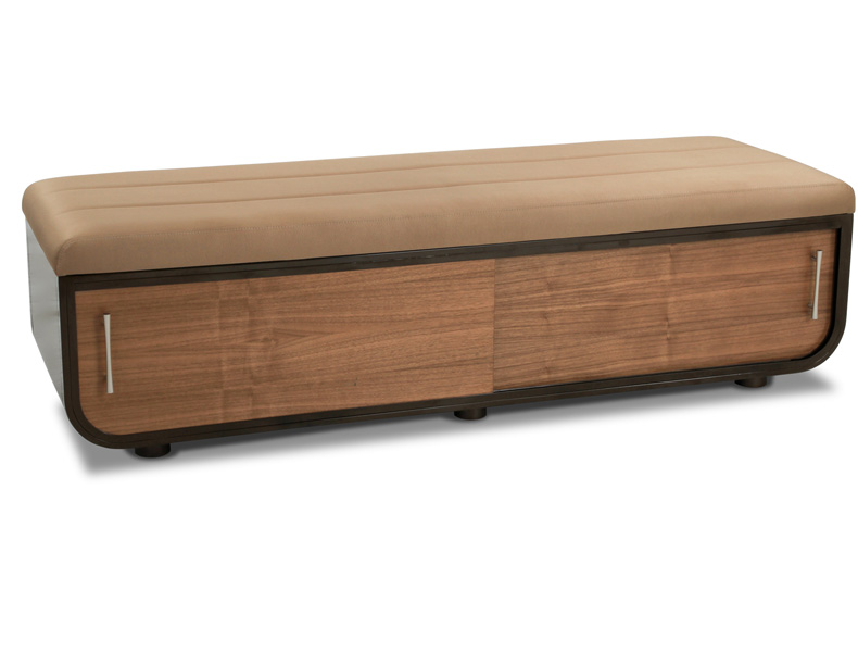 extra long leather storage bench