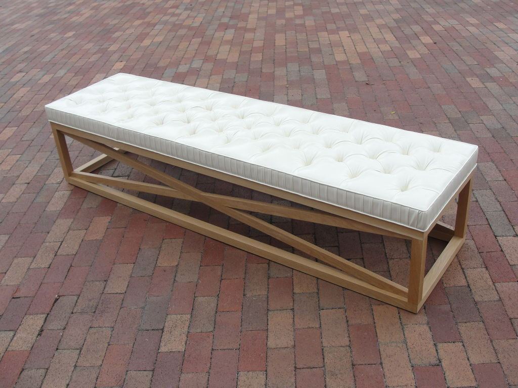 extra long wooden storage bench