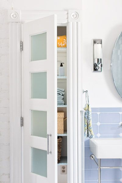 frosted glass linen closet doors