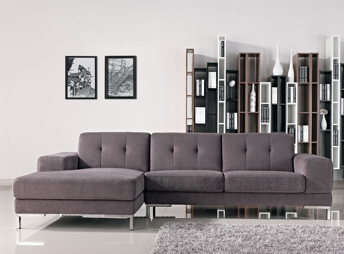 gray leather sectional couch