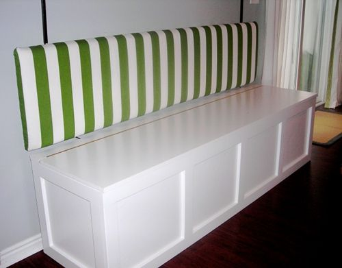 how to build a small bench with storage