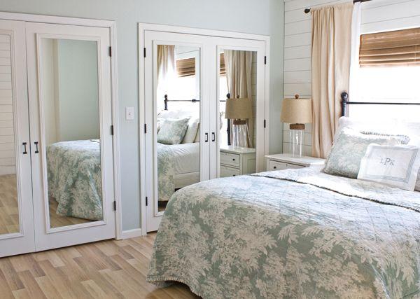 how to fix mirror sliding closet doors