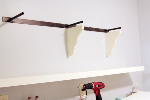 how to install wood closet shelving