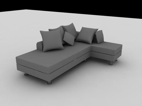 l shaped couch in small room