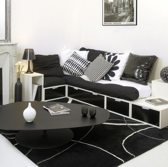l shaped couch small space