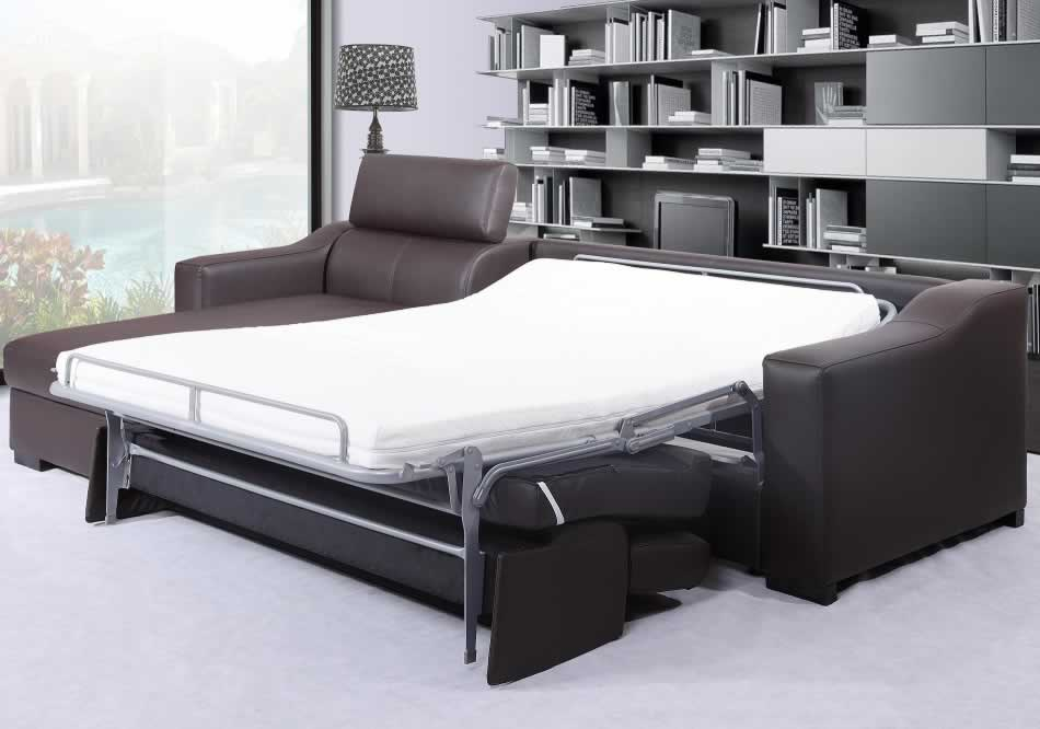 leather sectional with sleeper and chaise