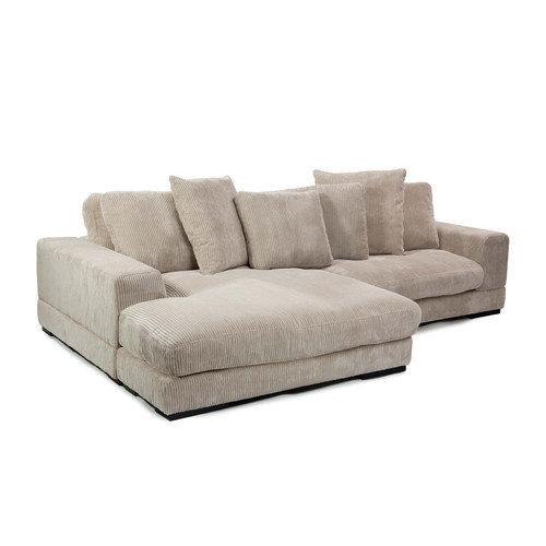 Grey Microfiber Sectional Sofa.