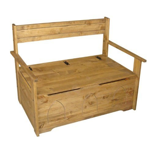 pine bench seat with storage