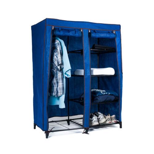 portable closet and shelves