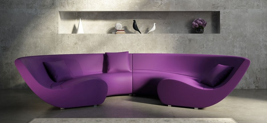 purple leather couch purple sofa and yellow walls amp sofa ideas interior 1690