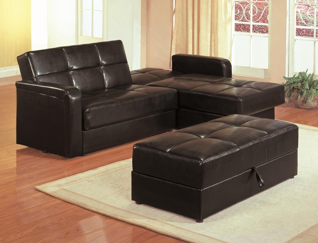 sectional sleeper sofa with storage and pillows