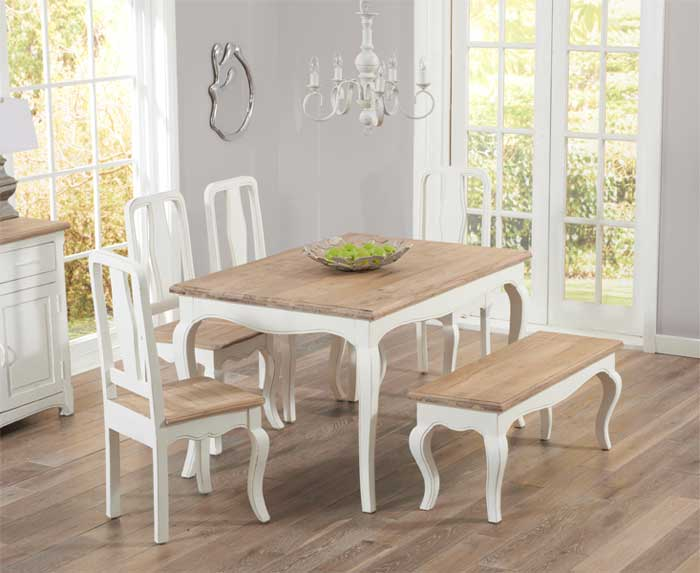 shabby chic bench table