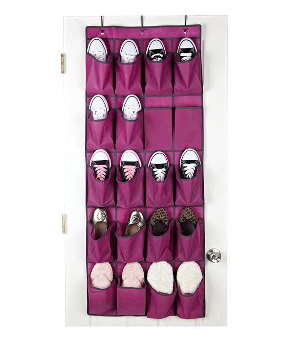 shoe holder for closet door