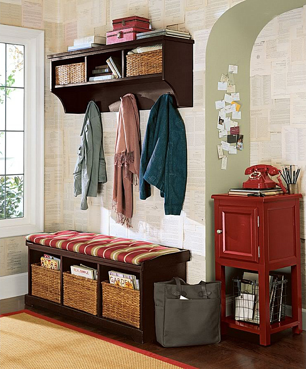 small entry bench storage