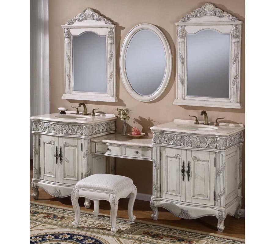 80 inch double sink bathroom vanity